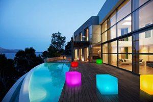 Bonetti Cube avec changement de couleurs 30cm lampe solaire LED IP67RGB ampoule lampe luminaire extérieur Solar Lampe de décoration de jardin Dés Déco Pierre de la marque Bonetti image 0 produit