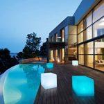 Bonetti Cube avec changement de couleurs 30cm lampe solaire LED IP67RGB ampoule lampe luminaire extérieur Solar Lampe de décoration de jardin Dés Déco Pierre de la marque Bonetti image 1 produit