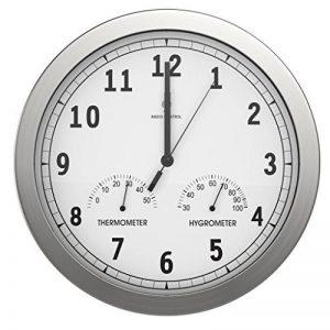 bonVIVO TIMERIDER - Horloge murale radio-pilotée ultra-précise, pendule murale aluminium pour salon/cuisine/bureau, avec thermomètre et hygromètre intégrés - 30,5 cm de la marque BonVivo image 0 produit