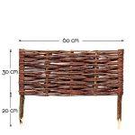 BooGardi B-Ware–Plate-bande en osier dans de nombreuses tailles disponibles–Clôture, bordure de parterre ou chemin de délimitation 60 cm 30 cm de la marque BooGardi image 1 produit