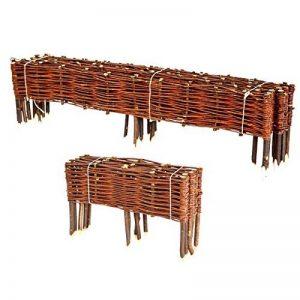BooGardi Clôture en bois de saule pour bordure de plate-bande, de chemin Plusieurs dimensions 20 x 100 cm 10er Set naturel de la marque BooGardi image 0 produit
