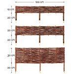 BooGardi Clôture en bois de saule pour bordure de plate-bande, de chemin Plusieurs dimensions 20 x 100 cm 10er Set naturel de la marque BooGardi image 2 produit