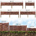 BooGardi Clôture en bois de saule pour bordure de plate-bande, de chemin Plusieurs dimensions 20 x 100 cm 10er Set naturel de la marque BooGardi image 3 produit