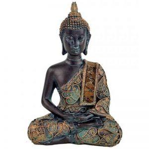 Bouddha en méditation - finitions antiques de la marque Mani bhadra - Phoenix import image 0 produit