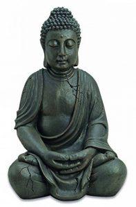 BOUDDHA figure méditant environ 50 cm de haut résine Dhunana mudra décoration Feng Shui de la marque B&G image 0 produit