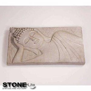 Bouddha image mural décoratif antique gris pierre, 57x 31cm de la marque Imhof Stevens image 0 produit