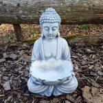 Bouddha massif en pierre avec fleur de lotus, Décoration de jardin, résistant au gel de la marque gartendekoparadies.de image 2 produit