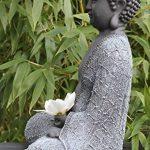 Bouddha Statue en pierre, gris ardoise, décoration figurine pour intérieur extérieur jardin de la marque Tiefes Kunsthandwerk image 2 produit