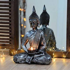 Bouddha Statuette chinois 33cm avec chandelier décoration zen pour intérieur feng shui de la marque INtrenDU image 0 produit