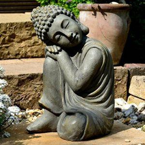 Bouddha Statuette Chinois 43 cm décoration zen pour intérieur extérieur jardin zen, feng shui de la marque INtrenDU image 0 produit