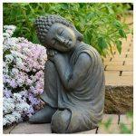 Bouddha Statuette Chinois 43 cm décoration zen pour intérieur extérieur jardin zen, feng shui de la marque INtrenDU image 1 produit