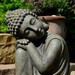 Bouddha Statuette Chinois 43 cm décoration zen pour intérieur extérieur jardin zen, feng shui de la marque INtrenDU image 3 produit