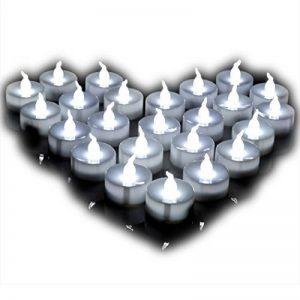 Bougies LED à Piles Bougies pour Decoration Lot de 24 Bougies Lumières chandelles sans Flamme avec une Pile bouton Blanc Froid de la marque Little ants image 0 produit