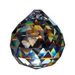Boule de cristal Ø 50mm dans un petit sachet cadeau bleu 30% cristal au plomb de haute qualité arc en ciel décoratioN fenêtre Feng Shui de la marque Christoph Palme Leuchten image 1 produit