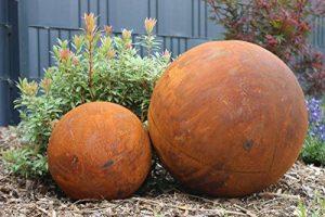Boule Métal Rouille Décoration acier rouille Grand orange rouille de la marque Gerry image 0 produit