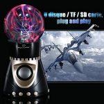 Boule Plasma, OCDAY Boule Magique Lampe d'Ambiance Foudre Tactile Cristal Bluetooth CSR 4.0, Radio FM Intégrée, Support U Disque / TF / SD Carte Compatible avec Samrt Phone, Ordinateur, Mp3 de la marque OCDAY image 1 produit