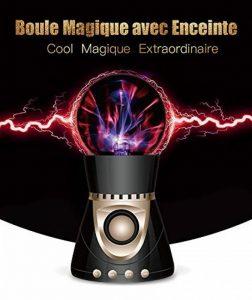 Boule Plasma, OCDAY Boule Magique Lampe d'Ambiance Foudre Tactile Cristal Bluetooth CSR 4.0, Radio FM Intégrée, Support U Disque / TF / SD Carte Compatible avec Samrt Phone, Ordinateur, Mp3 de la marque OCDAY image 0 produit