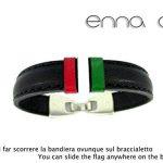 Bracelet en cuir noir drapeau Italie de la marque ENNA ARTESANAS image 2 produit
