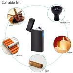 Briquet USB Rechargeable, LAZU Briquet Double Arc Electrique Sans Flamme Anti Vent Coupe-vent avec Indicateur LED de la marque LAZU image 2 produit