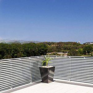 Brise vue casa pura® pare vue canisse   balcon, jardin   occultant, résistant aux intempéries   90x500cm - gris et blanc de la marque casa pura image 0 produit