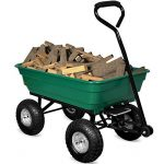 Brouette verte - Chariot de jardin avec fonction d'inclinaison, essieu directeur et pneumatiques de la marque Deuba image 1 produit