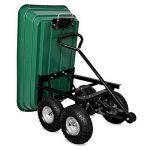 Brouette verte - Chariot de jardin avec fonction d'inclinaison, essieu directeur et pneumatiques de la marque Deuba image 4 produit