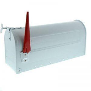 Burg-Wächter, Boîte aux lettres américaine avec fanion pivotant, Format de fente: A4, Aluminium, 891 W, Blanc de la marque Burg-Wächter image 0 produit