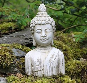Buste de Bouddha Pierre Drift Effet bois Jardin extérieur intérieur Statue Ornement de la marque Home and Garden Products image 0 produit