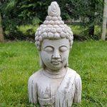 Buste de Bouddha Pierre Drift Effet bois Jardin extérieur intérieur Statue Ornement de la marque Home and Garden Products image 1 produit