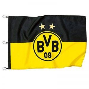 BVB 15131000Hiss Drapeau 150x 100cm avec logo, noir/jaune, 150x 100x 1cm de la marque Borussia Dortmund image 0 produit