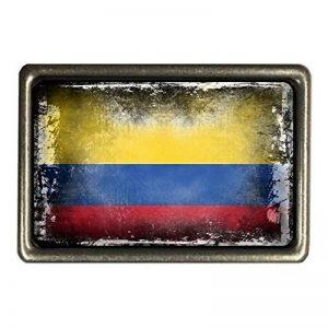 cadora Boucle de Ceinture Buckle Drapeau de la Colombie style shabby chic usé Alt gebraucht de la marque Cadora image 0 produit