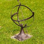 Cadran solaire à poser - décoration de jardin - fonte - style antique - 52 cm de la marque aubaho image 1 produit