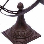 Cadran solaire à poser - décoration de jardin - fonte - style antique - 52 cm de la marque aubaho image 4 produit