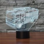 Camion de pompier 3D Lampe à LED Glow - Ahat Touch Switch Art Sculpture Lumières Unique 7 couleurs Effets d'éclairage et de visualisation 3D Incroyable illusion optique Awesome Gifts de la marque Ahat image 2 produit