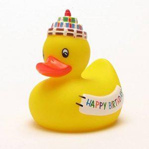 Canard de bain Happy Birthday 8 cm de la marque image 0 produit