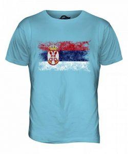 Candymix Serbie Drapeau Délavé T-Shirt Homme de la marque Candymix image 0 produit