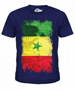 Candymix Sénégal Drapeau Grunge Unisexe T-Shirt enfant Garçon Fille de la marque Candymix image 0 produit