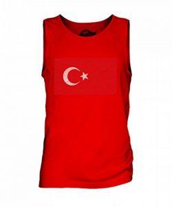 CandyMix Turquie Drapeau Griffonné Débardeur T-shirt sans Manche Homme de la marque Candymix image 0 produit