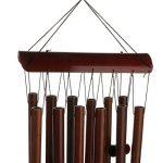 Carillon à Vent en Bambou Couleur de Bois Décoration pour Cour Jardin en Plein Air de la marque Générique image 6 produit