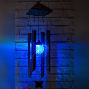 Carillon à Vent solaire illuminé changeant de couleur par SPV Lights (2 ans gratuit garantie) de la marque SPV Lights image 0 produit