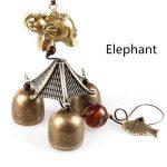 Carillon à Vent Suspendu Chanceux Chinois Cloche de Métal Poisson Eléphant de la marque MagiDeal image 1 produit