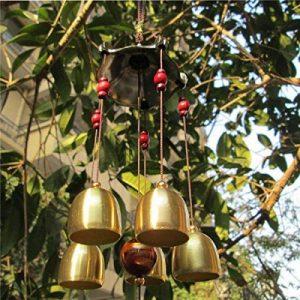 Carillon de Vent Feng Shui Cloches en Métal Bronze Décor Suspendu Jardin de la marque Générique image 0 produit