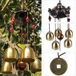 Carillon de Vent Feng Shui Cloches en Métal Bronze Décor Suspendu Jardin de la marque Générique image 1 produit