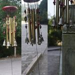 Carillon du vent, vous souhaite la prospérité: chinois traditionnel incroyable 4 tubes 5 cloches et base en bois Bronze Windchime pour patio extérieur, jardin et décoration intérieure de la marque MYMM image 3 produit