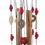 Carillon extérieur Candora en bronze pour cour ou jardin - 4tubes 5cloches 60cm -Porte-bonheur familial traditionnel chinois de la marque Candora image 2 produit