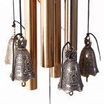 Carillon extérieur Candora en bronze pour cour ou jardin - 4tubes 5cloches 60cm -Porte-bonheur familial traditionnel chinois de la marque Candora image 3 produit