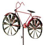 Carillon vélo metallwindrad bicylce rouge, décoration de jardin moulin à vent de la marque colourliving image 1 produit