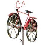 Carillon vélo metallwindrad bicylce rouge, décoration de jardin moulin à vent de la marque colourliving image 2 produit