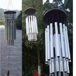 Carillon à Vent 27-Tubes Cloches Décoration Suspendue Couleur d'Argent de la marque Générique image 1 produit
