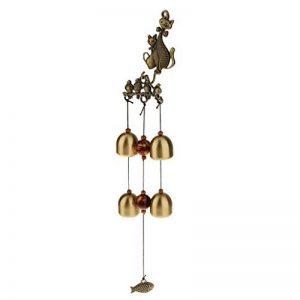 Carillon à Vent 4-Cloches Chat Chanceux Feng Shui Décoration de Jardin Extérieur de la marque Générique image 0 produit